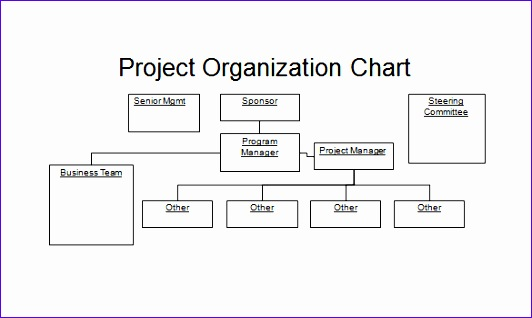 Project Organization PowerPoint Chart Template Free Download