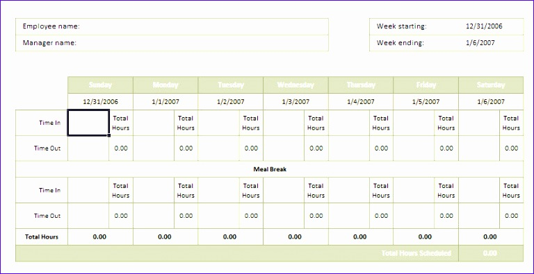 10 excel timesheet template for multiple employees - exceltemplates