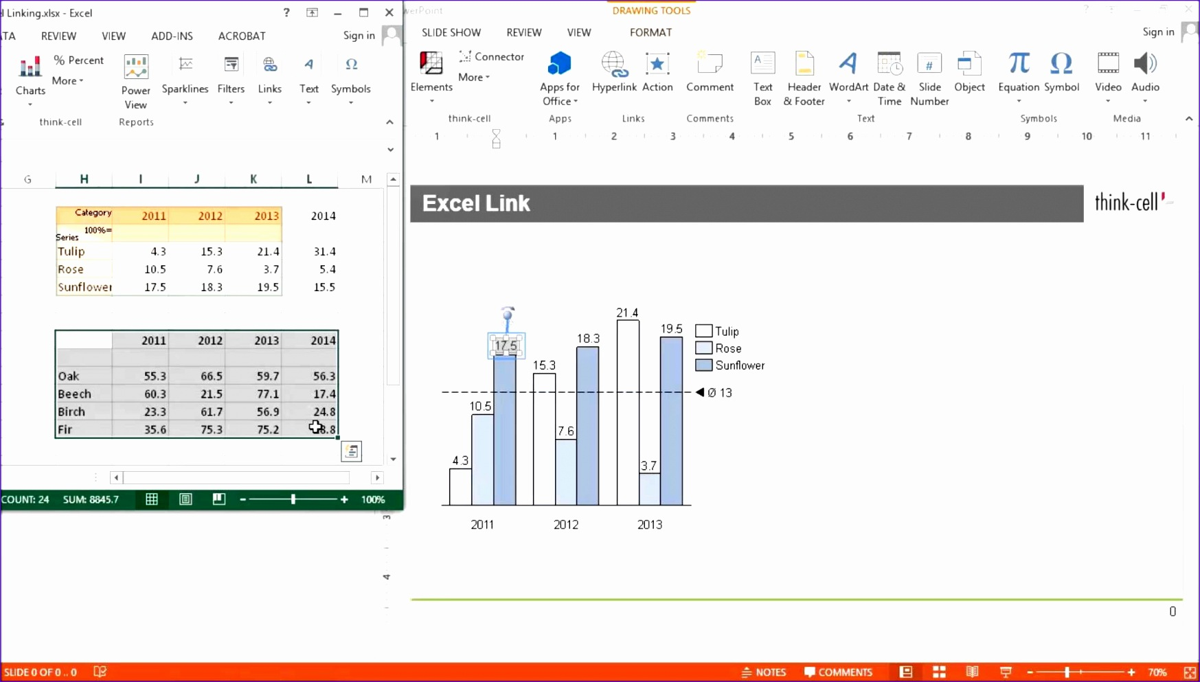 Excel Waterfall Chart Template with Negative Values H0kwx Beautiful Features Charting Excel Data Links and Slide Layout Think Cell