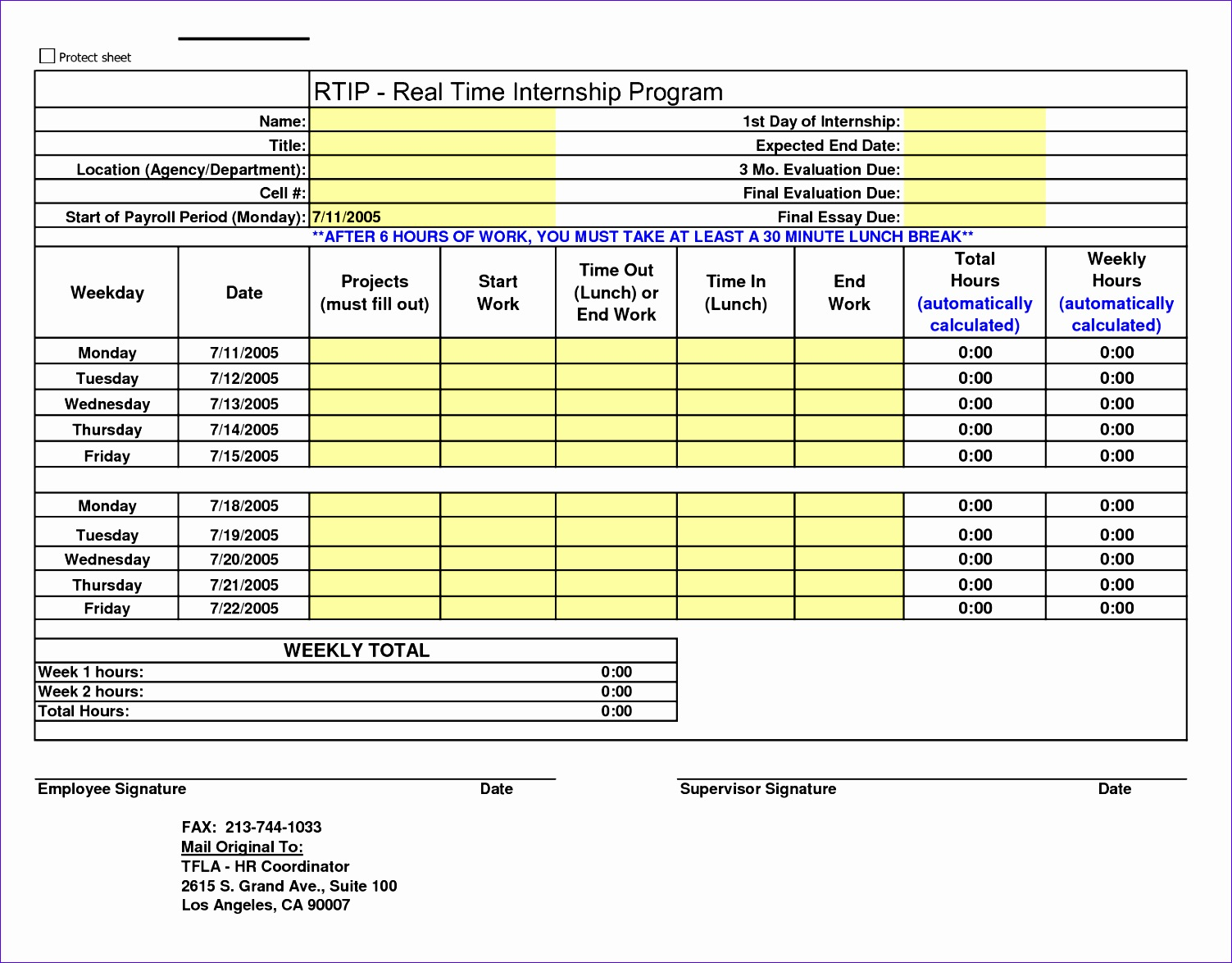 Excel Weekly Timesheet Template with formulas Tcemj Beautiful 7 Weekly Timesheet Calculator