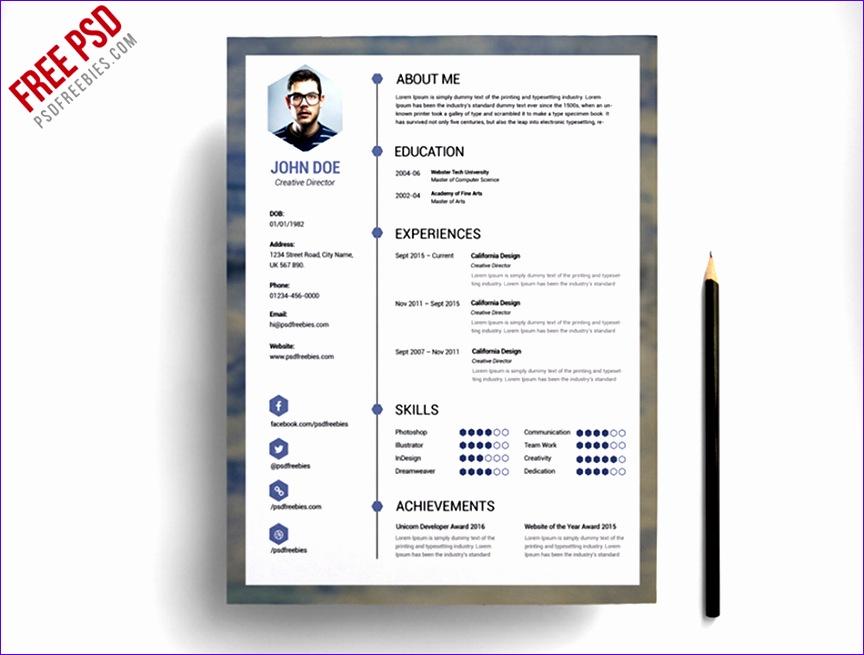 01 free blue resume template