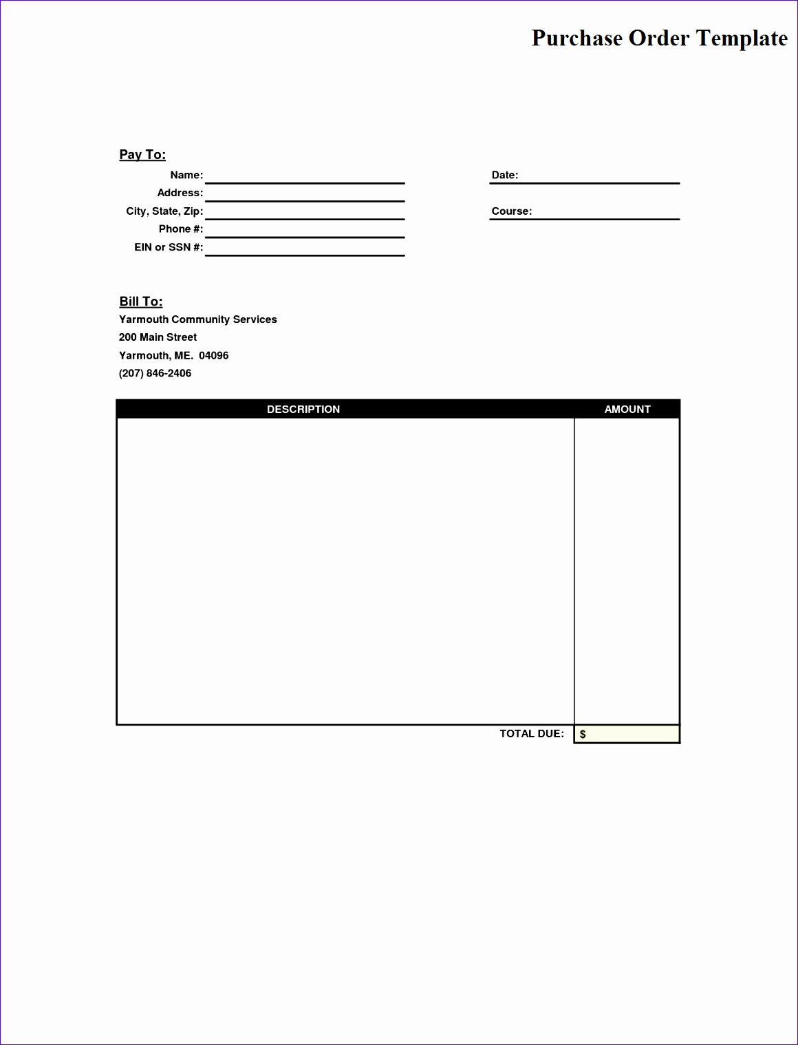 Purchase Order Template Pdf 1