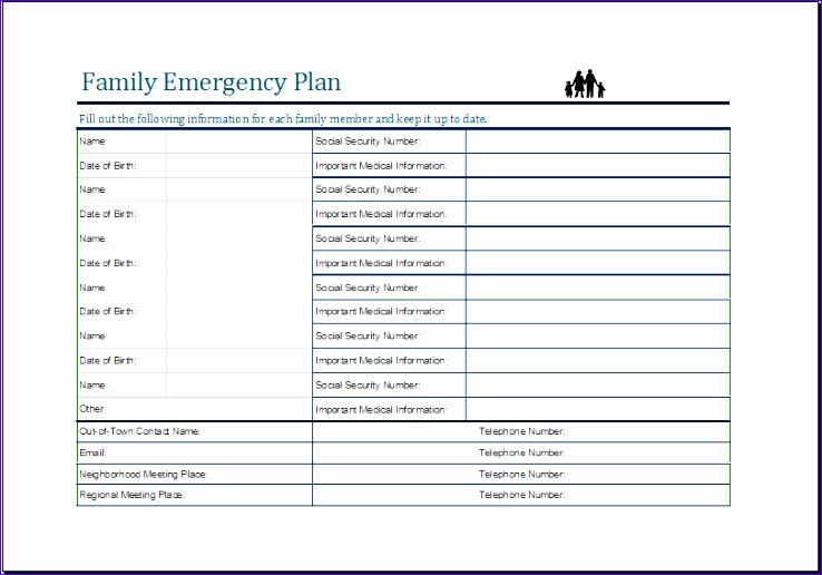 Family Emergency Plan Sheet Bdvss New Money Spending Plan Worksheet