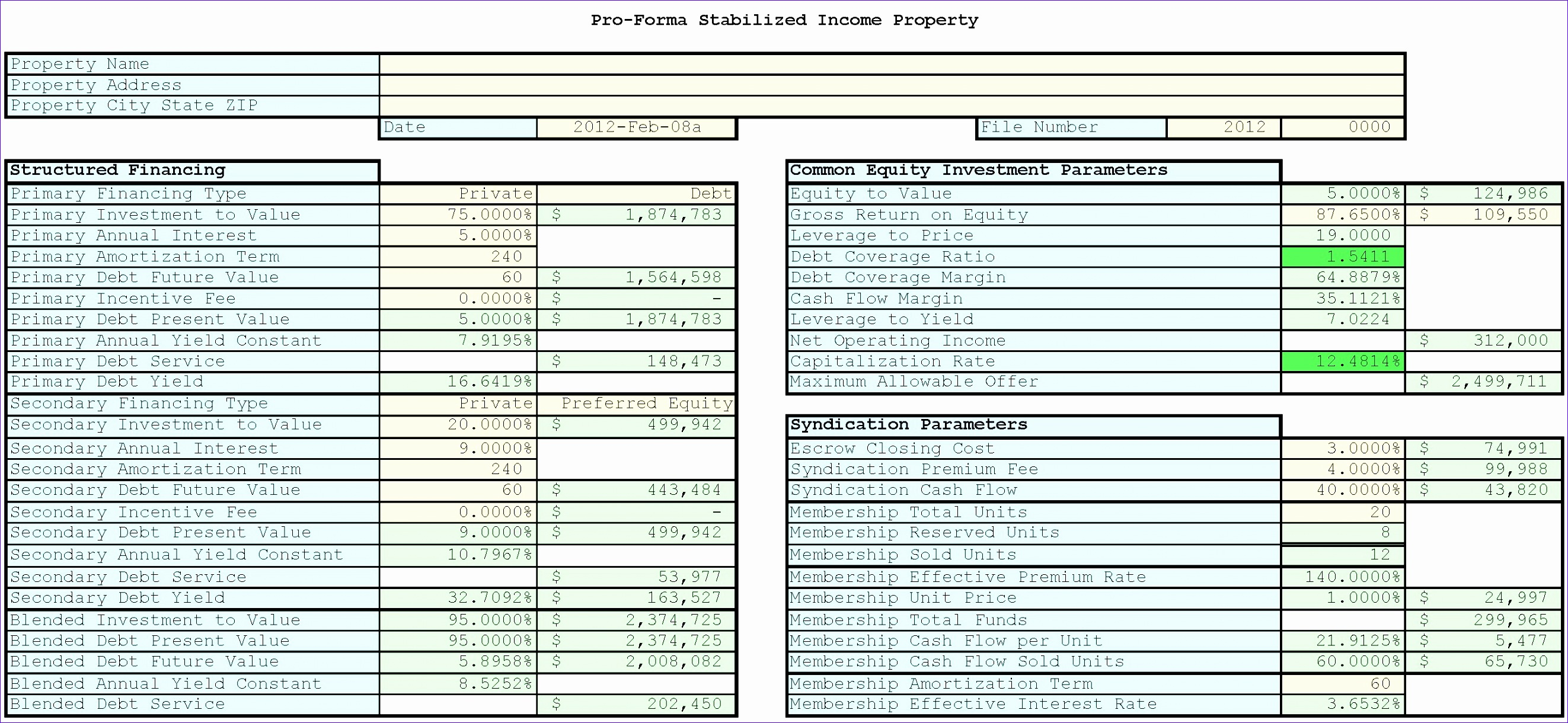 free real estate investment analysis spreadsheet