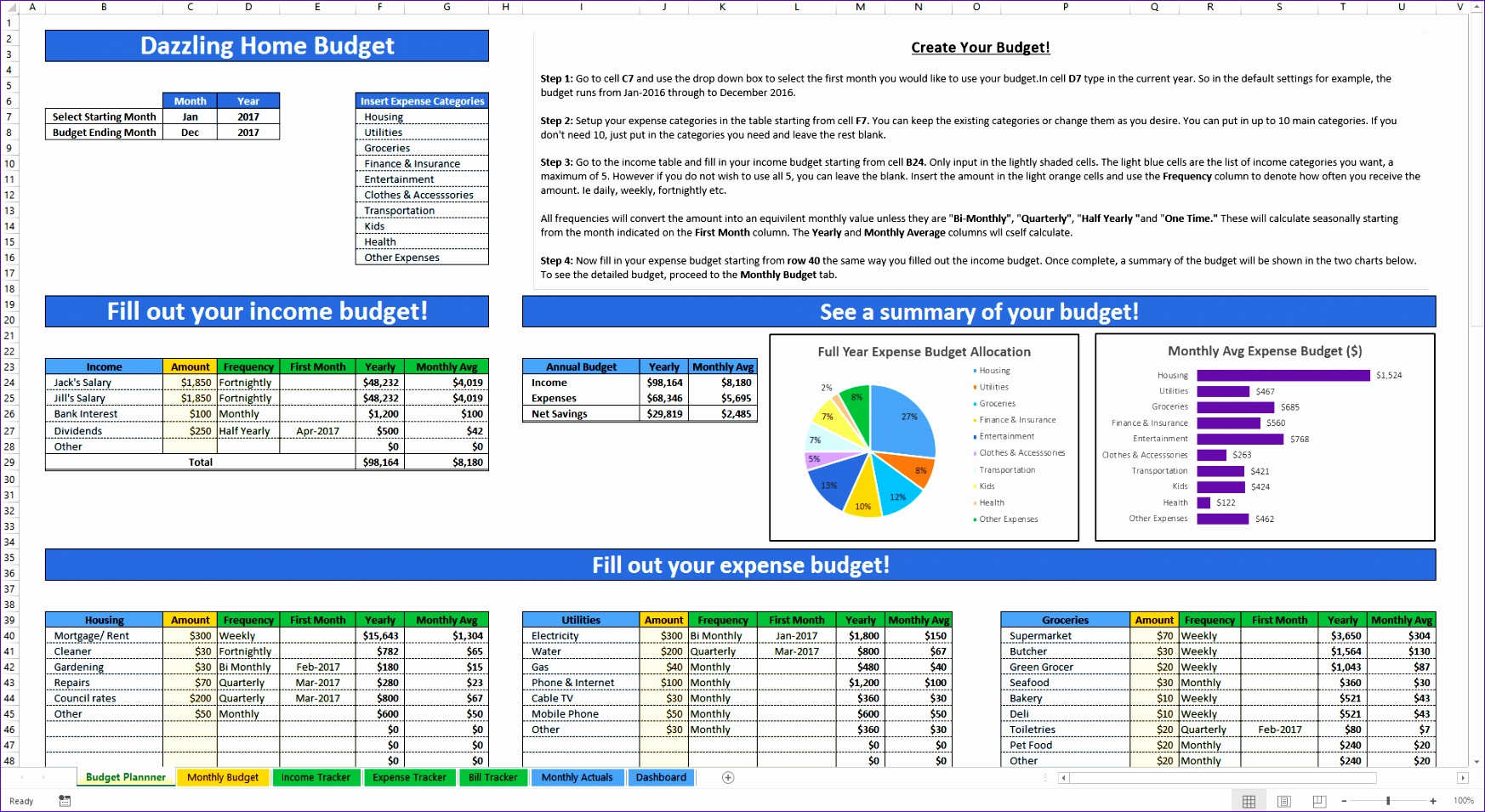 Finance Excel Templates