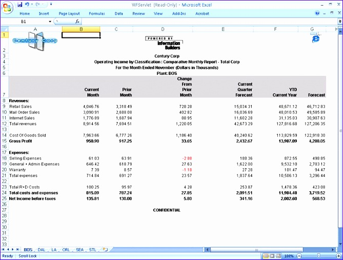 financialreport excel