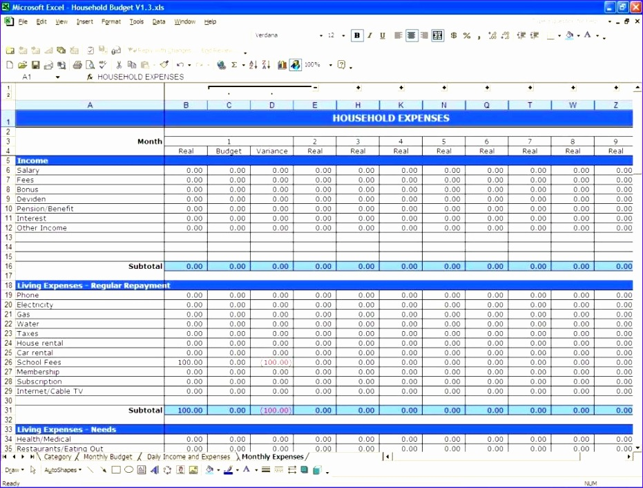 free personal bud spreadsheet template excel and building a bud spreadsheet