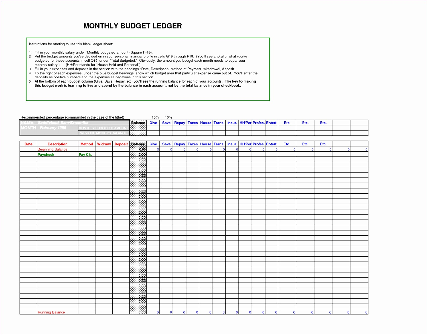 Download general ledger templates docs