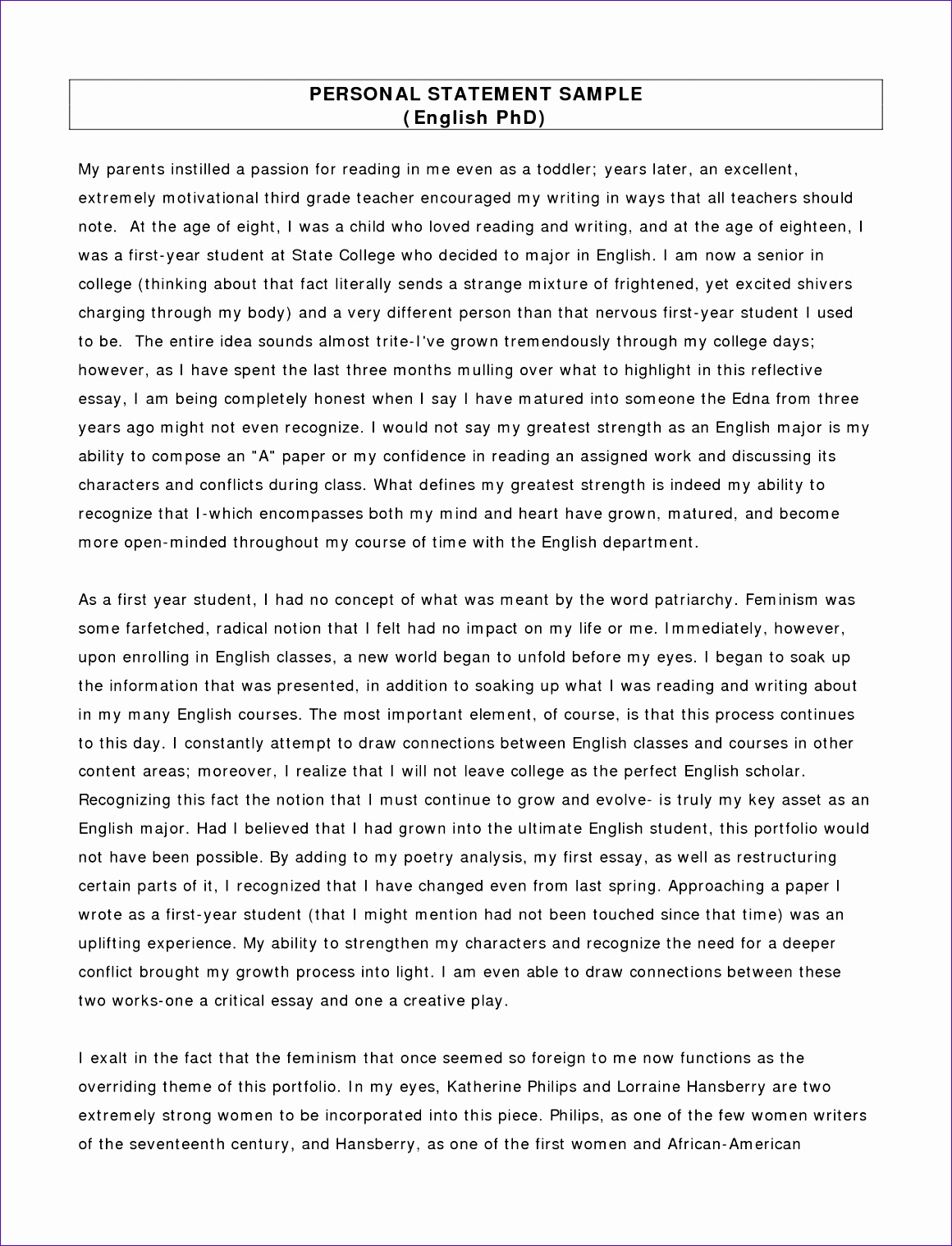 good personal statements template oqwodxpa