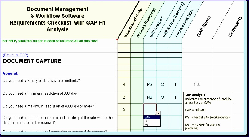 Fit Gap Analysis Template Excel Guggd Elegant Dm Software