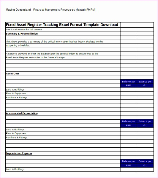 10 fixed asset register excel template exceltemplates for Fixed asset policy template
