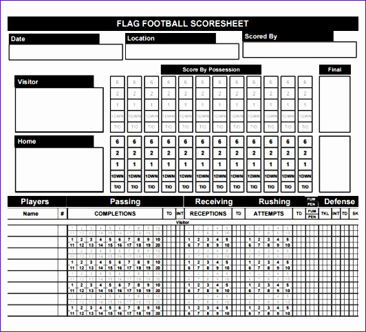 Football Stat Sheet Template Excel  Exceltemplates  Exceltemplates