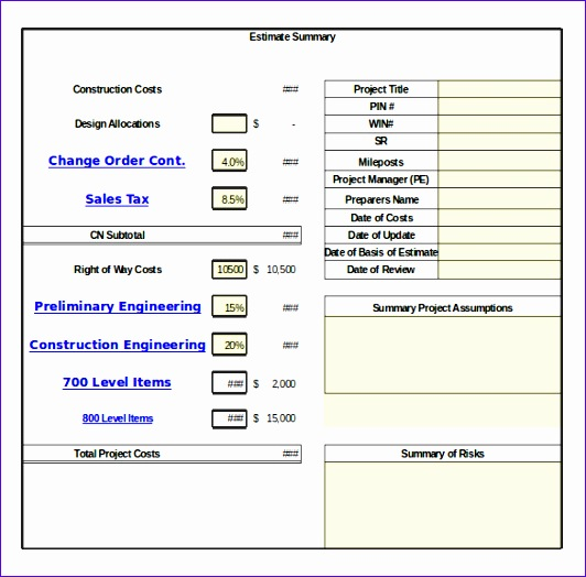 Free Change Order Template Excel  Exceltemplates  Exceltemplates
