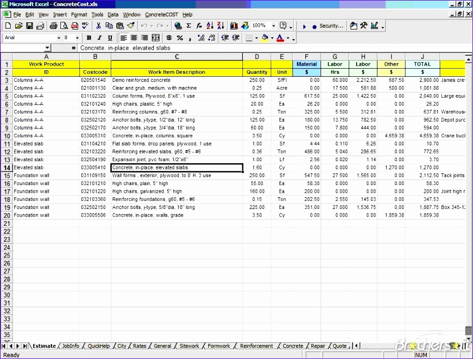estimate templates for construction customizable form templates for free construction estimate template excel