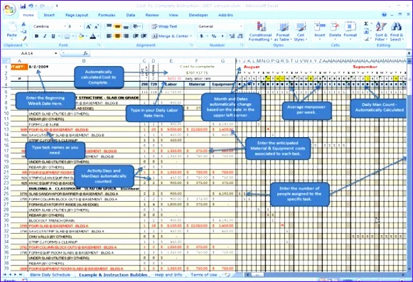 Construction Cost Estimation Using Excel