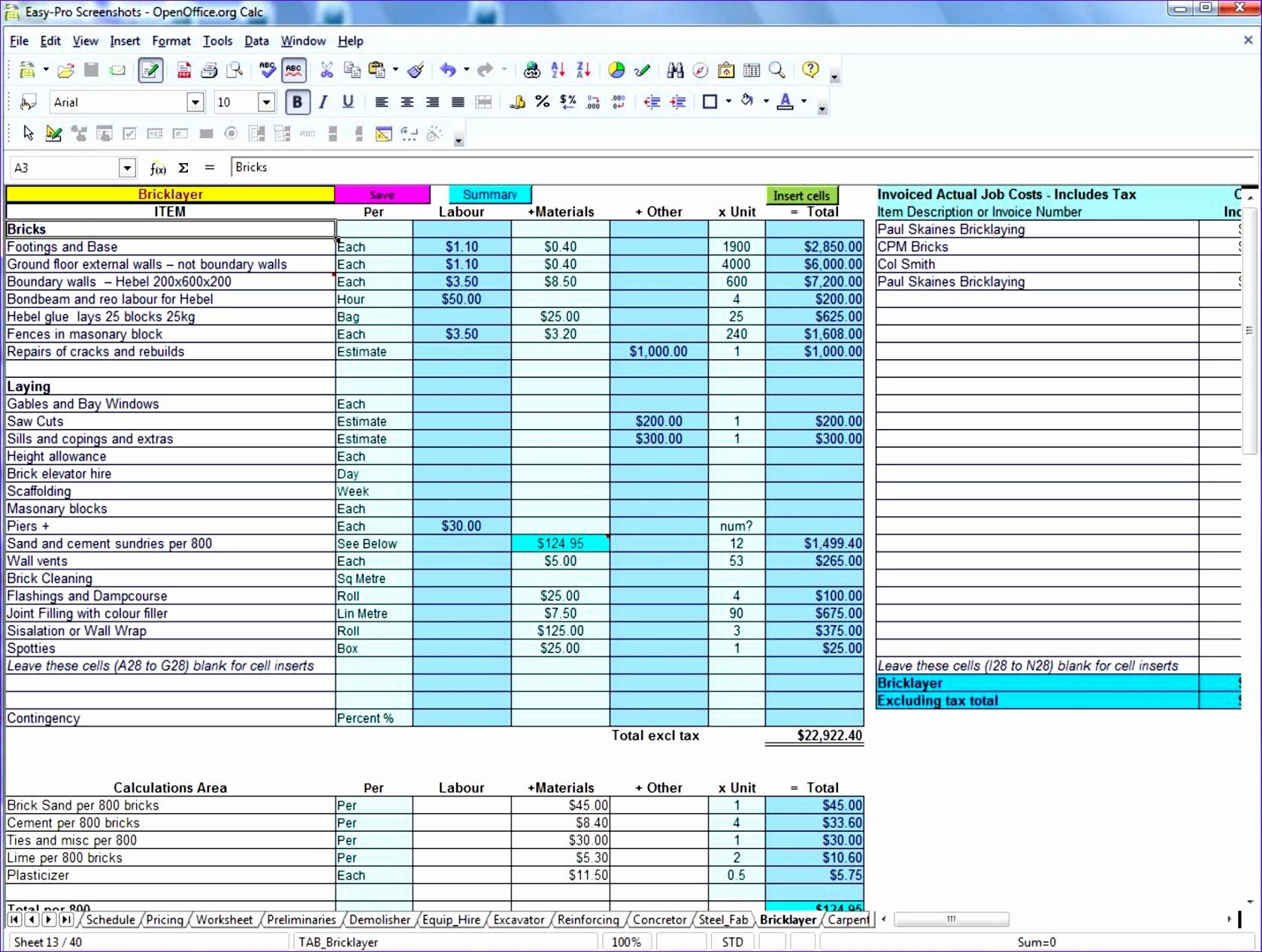 1 Easy Pro Builders Estimator
