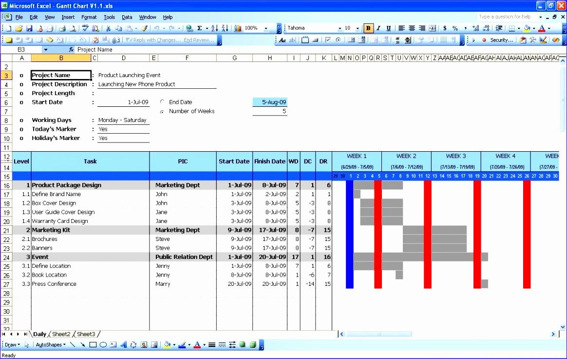 Free Gantt Chart Excel 2010 Template Gouqv Elegant Gantt Chart