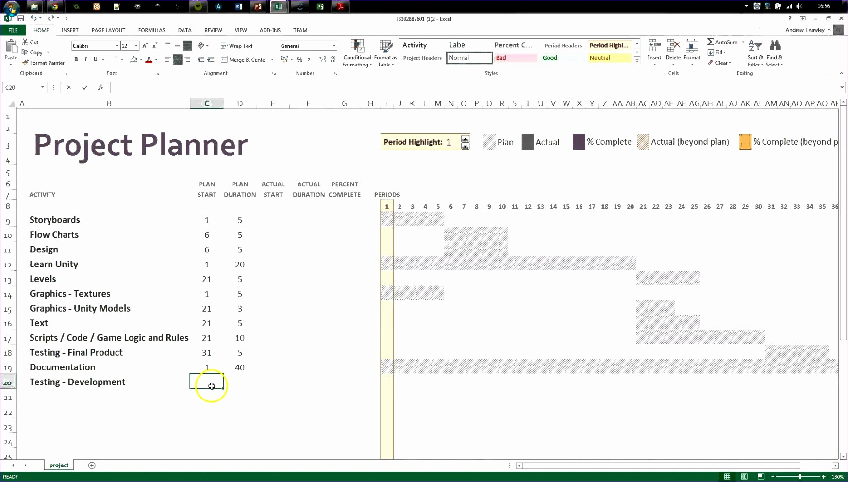 9 free gantt chart template for excel 2007