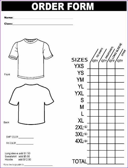 shirt order form template yofoux7m