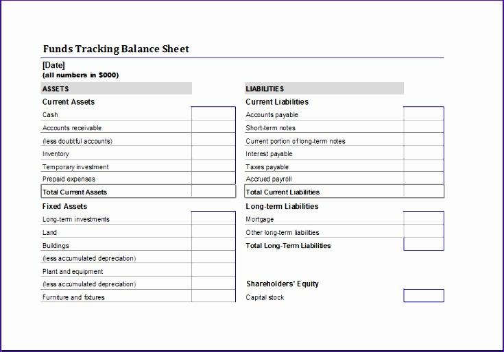Funds Tracking Balance Sheet O3ovz Awesome Funds Tracking Balance Sheet Template for Excel