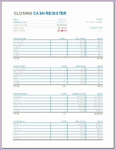 Home Maintenance Schedule Vcffl Best Of Closing Cash Register Template for Ms Excel