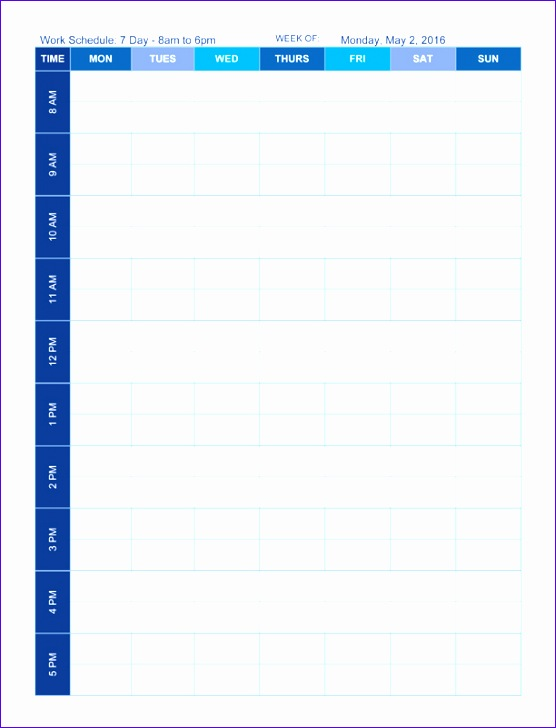 Hourly Planner Template Excel Rxokl New Schedule Template Time ...