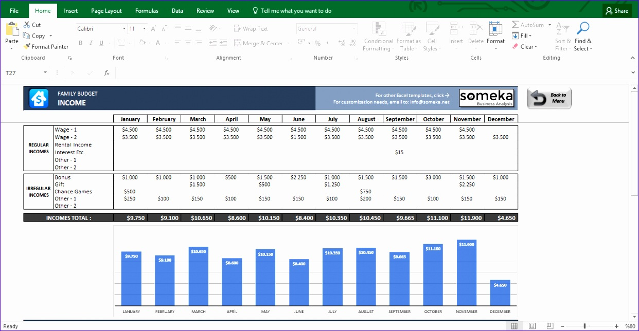 Excel 2010 Budget Template