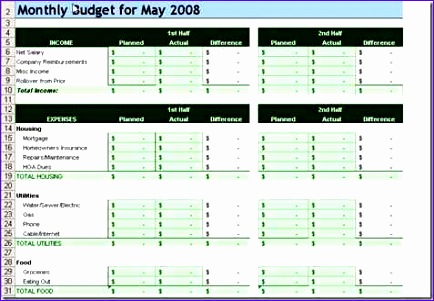 Household Budget Template Excel 2010 Vuccp Lovely 10 Free Household Bud Spreadsheets for 2017