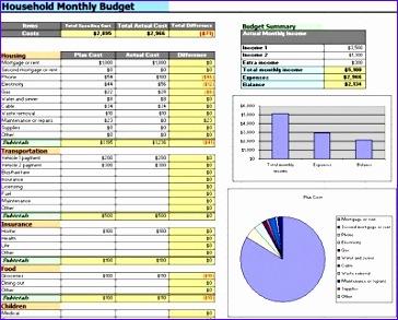 Home Bud Worksheet Excel 29