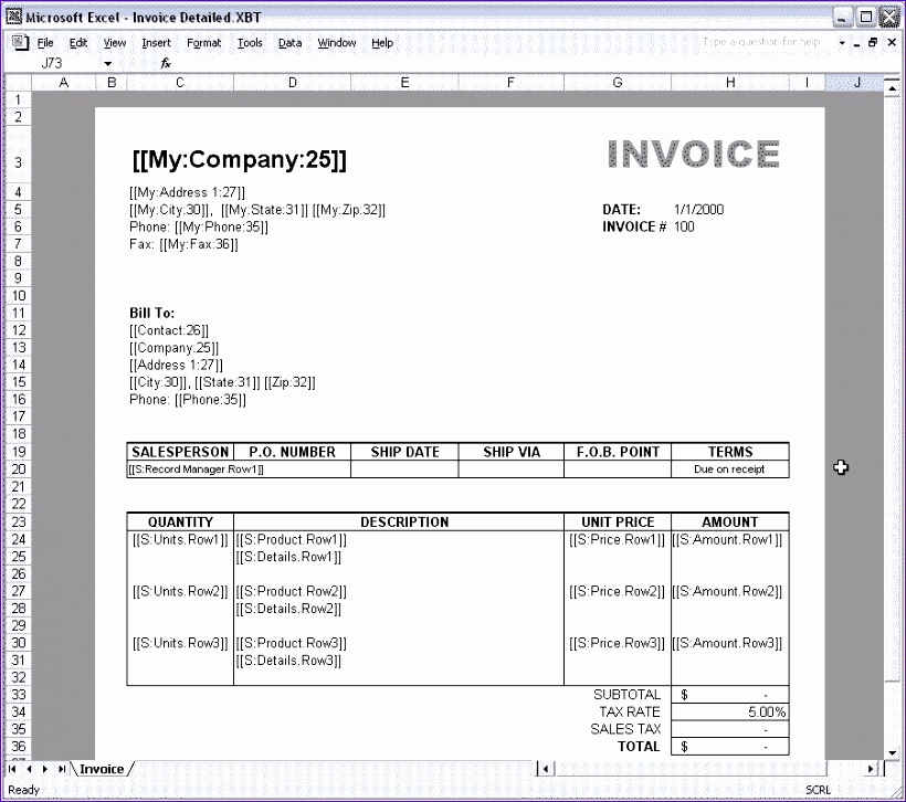 6 How To Create A Invoice Template In Excel