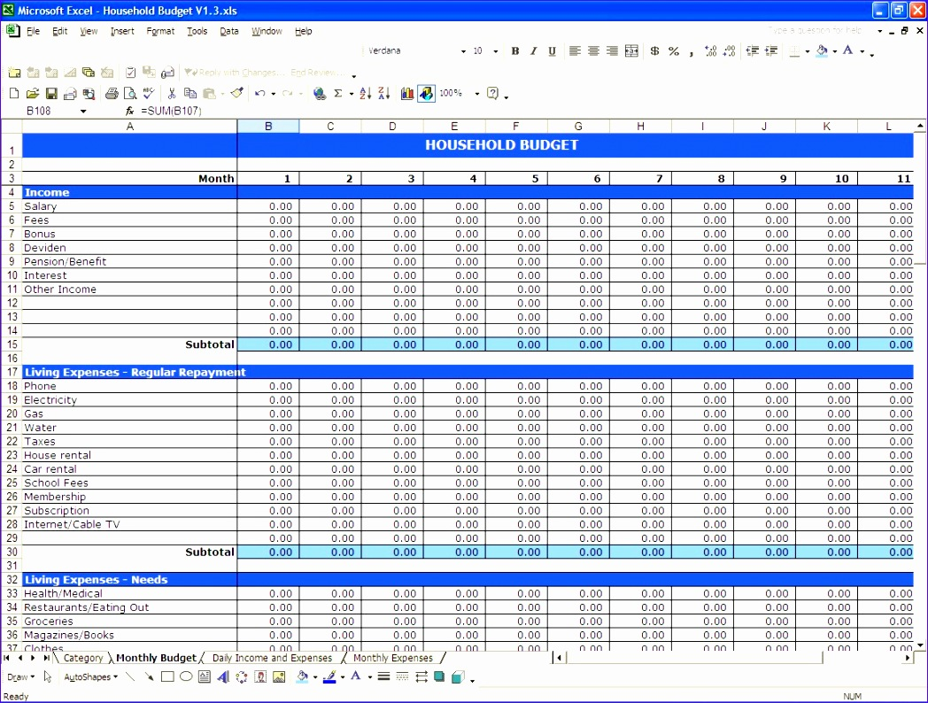 in e and expenses spreadsheet template for small business 3