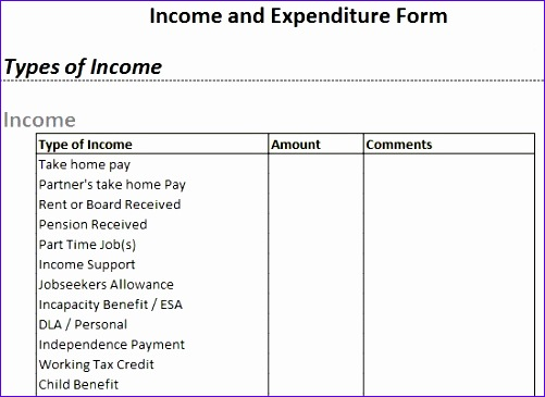 Income and Expenditure Template Excel Kholw Fresh Template – In ...