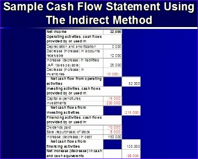 SampleCashFlowIndirect