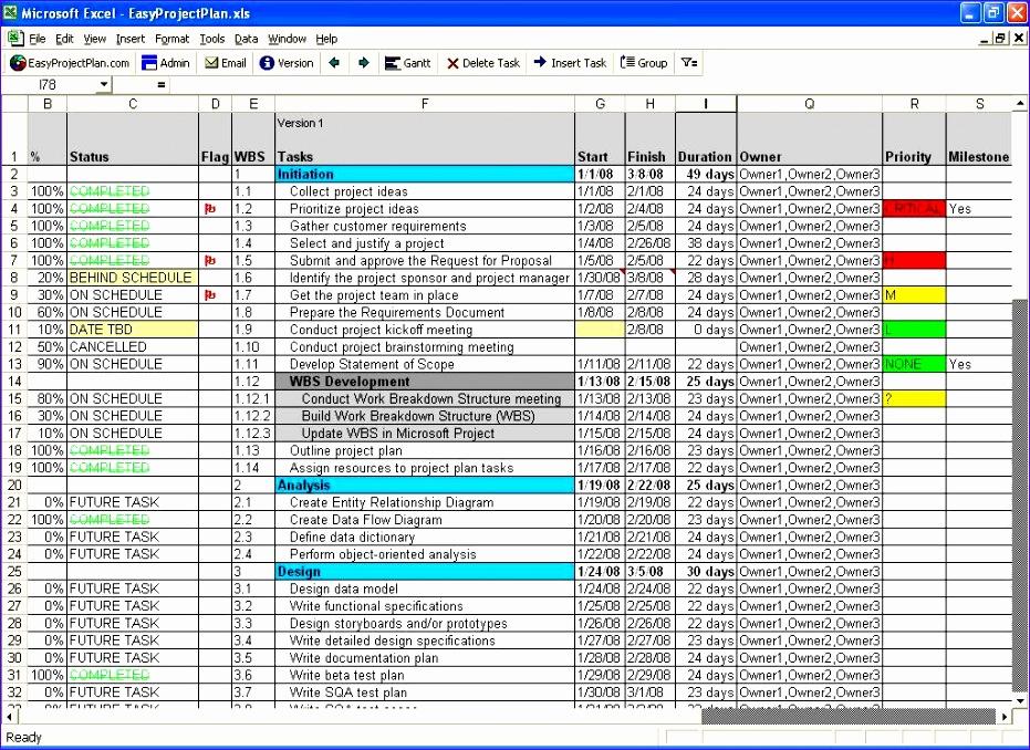 scr easyprojectplan excel template