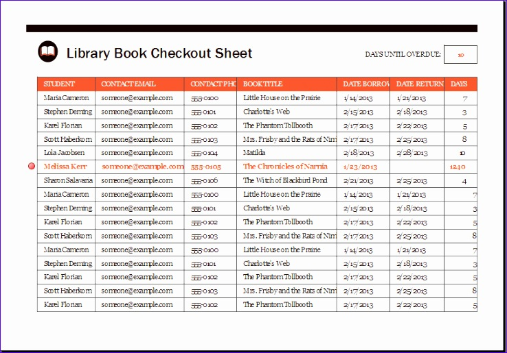 Inventory Management Template 0wwme Luxury Library Book Checkout Sheet Template Xls