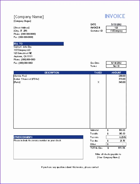 invoice template basic