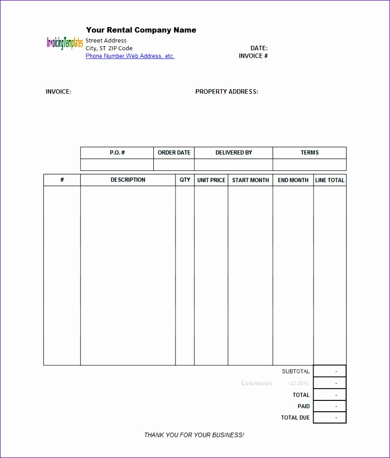 Invoice Template Excel 2003 Z1rfc Lovely Rental Invoice Template Word