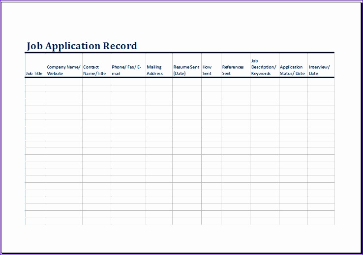 Job Application Form Template Excel Pdqb on