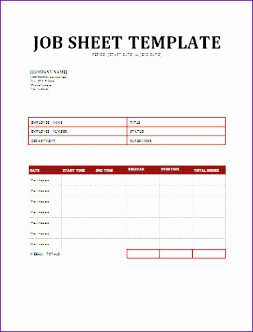 Job Sheets Templates Excel G1eie Unique Daily Job Sheet Template