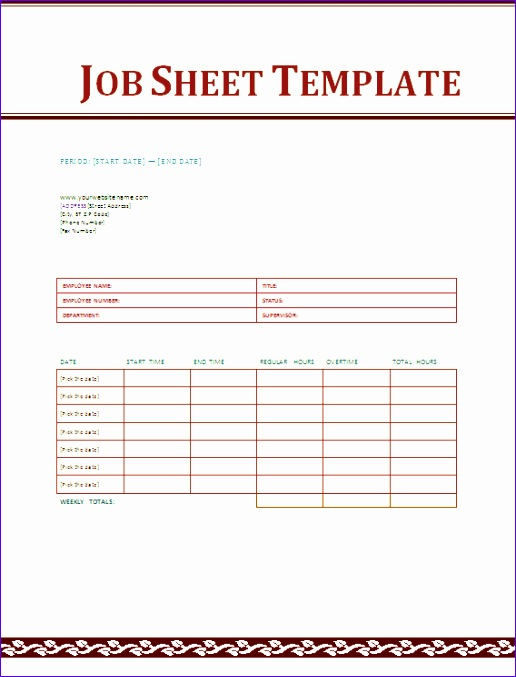 Job Sheets Templates Excel Oekid Beautiful Job Sheet Template social Funda