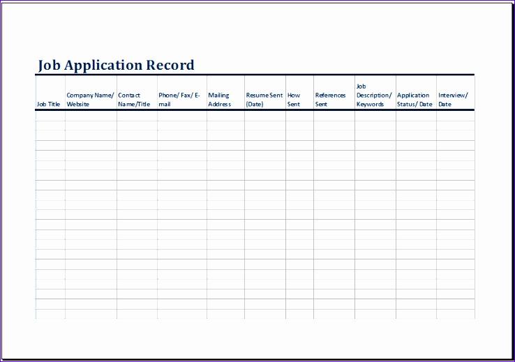job application log