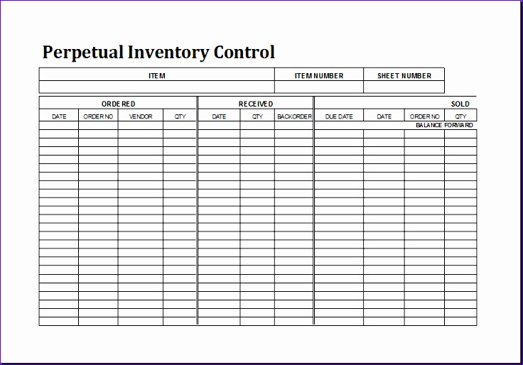 Liquor Inventory Sheet Osujg Best Of Perpetual Inventory Control