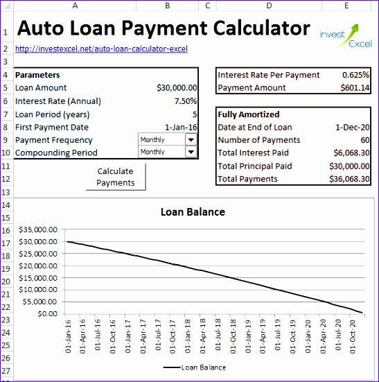 6 loan repayment calculator excel template