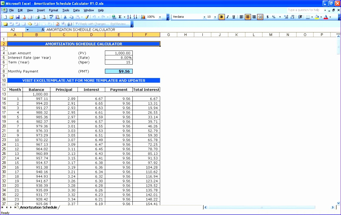 Excel Loan Repayment Template