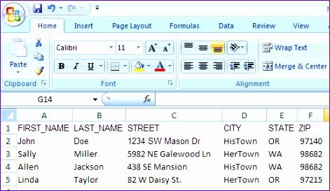 mail merge spreadsheet