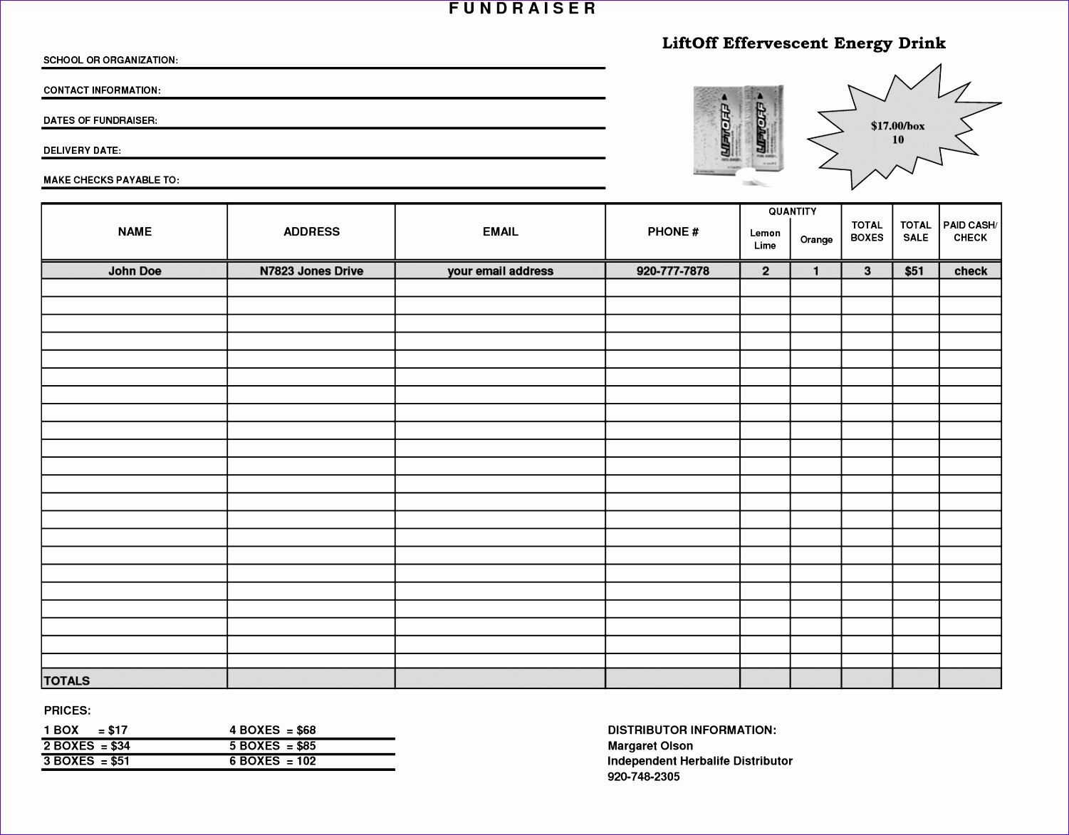 Making A Template In Excel Nrgve Unique Fundraiser Template Excel Fundraiser order form Template