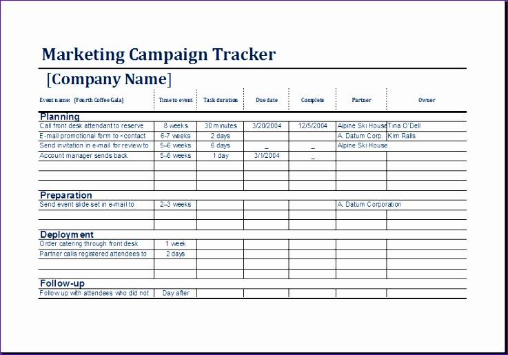 marketing campaign tracker