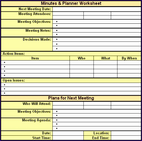 Meeting Notes Template Excel Tdkdd Inspirational  Meeting Minutes