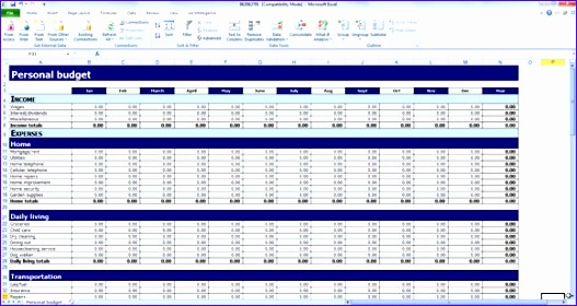 Microsoft Excel Budget Template 2010 Tsktk New Personal Bud Template for Excel