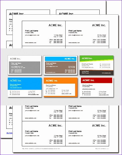 Excel Business Card Template